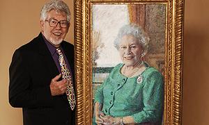 Rolf paints the lizard
