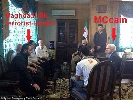 isis leader and Mccain