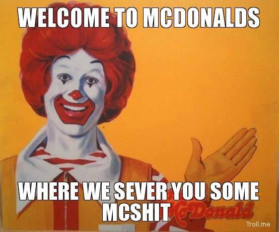 mcdonalds shit