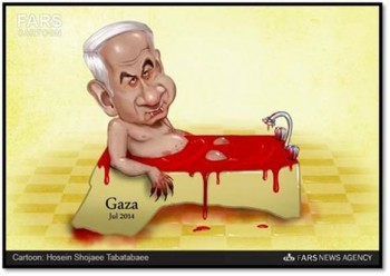 netanyahu-gaza-blood-anti-semitic
