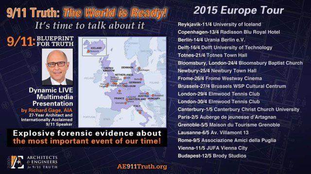 AE911Truth European Tour 2015 Dates