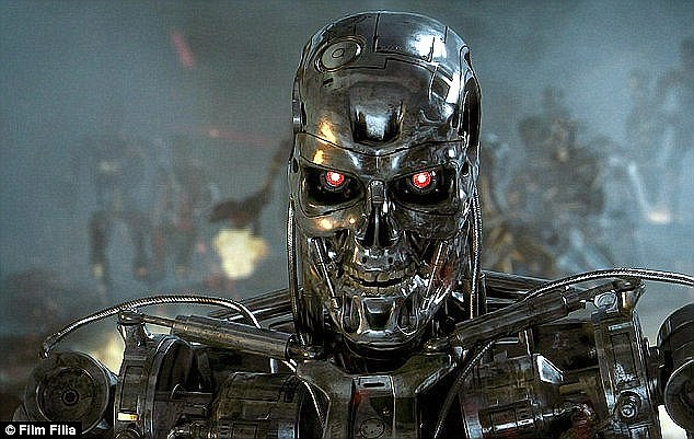 The warning came from a professor at the University of California. He said that deadly drones were the 'endpoint' of autonomous weapons (image from Terminator shown). Such weapons could start to be deployed in the next decade. And they will be limited only be physical abilities, not artificial intelligence