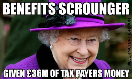 queen benefit scrounger